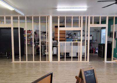 Kitchen framing complete